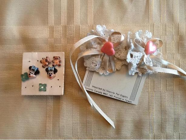 Children's Earrings hearts, Minnie Mouse, Teddy Bears and flower studs