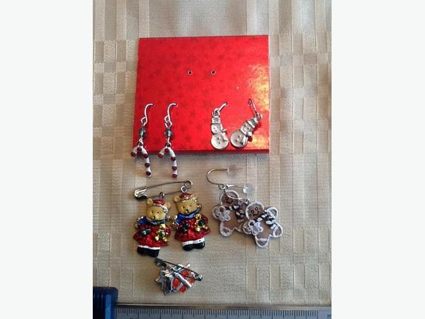 Holiday Earrings - Snowmen, Candy Canes, Presents, Gingerbread Men & Bears
