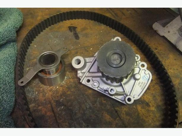 1994  honda civic  new  water pump  belt and tensioner