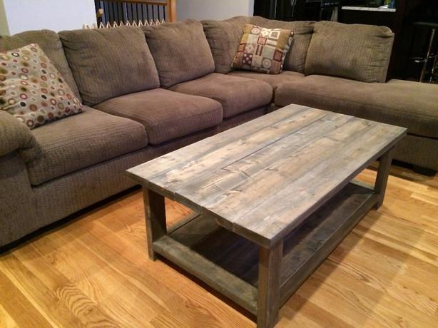 rustic grey coffee table 1
