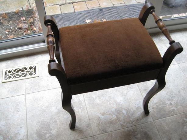 Antique Piano Stool Rosewood With Opening Seat For