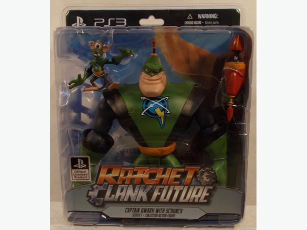 Ratchet & Clank Future Series 1 Captain Qwark With Scrunch Action Figure PS3