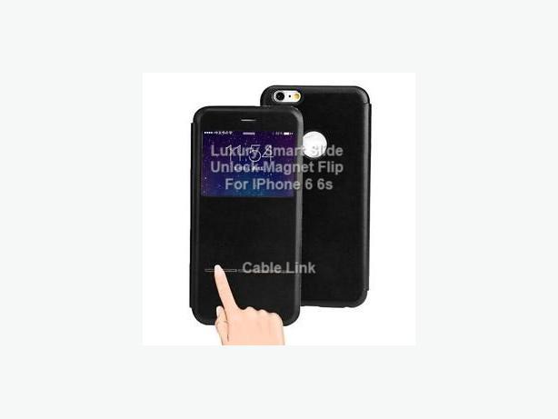 "Smart Slide Unlock Magnet Flip Case for IPhone 6 6S 4.7"""