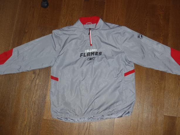 Reebok Center Ice Collection Calgary Flames Warm Up Pullover Jacket