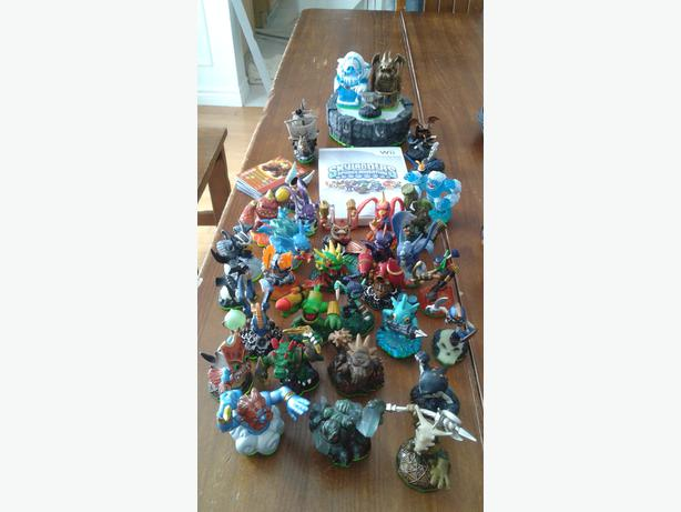 Wii Skylanders with 3 games, 3 portals,  49 Skylanders and  10 accessories