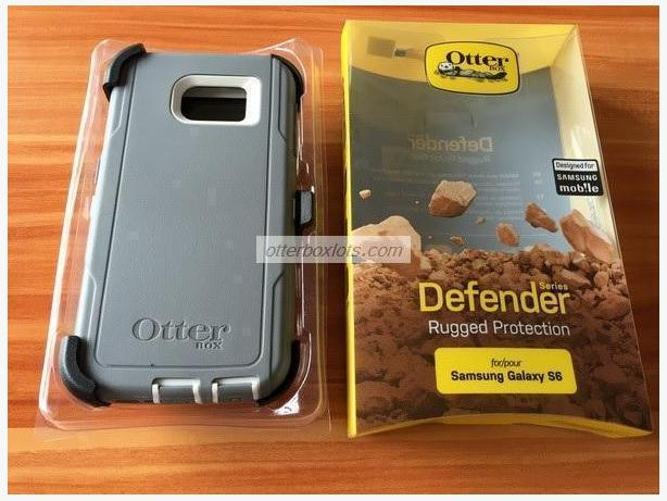 Samsung Galaxy S6 Case: Otterbox Defender Series, Glacier Grey/White