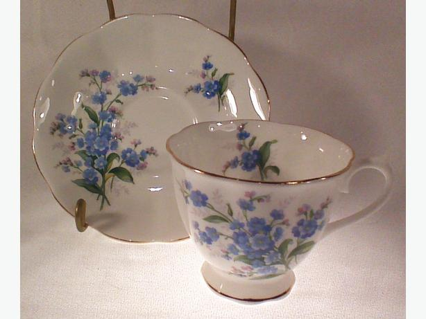 Royal Albert forget-me-nots teacup and saucer