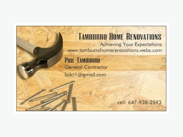 Tamburro Home Renovations Online 4 All Ur Renovation Needs!