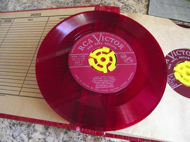 14 Operatic RCA Victor Red Seal 45s in album - $30 OBO