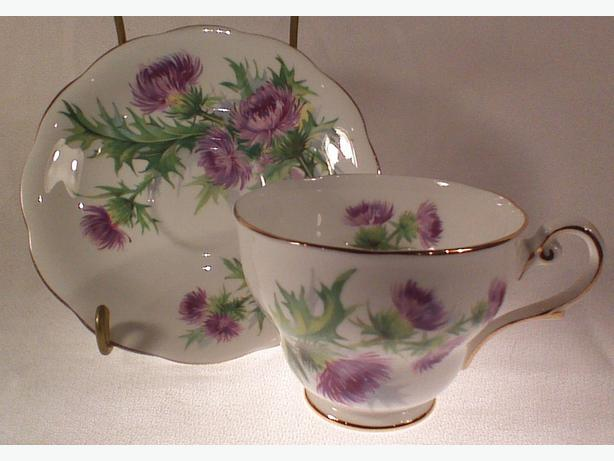 Royal Standard thistle teacup & saucer