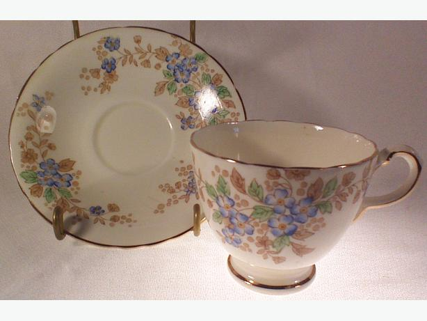 Delphine China teacup & saucer