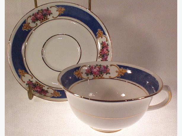 Crown Chelsea teacup and saucer