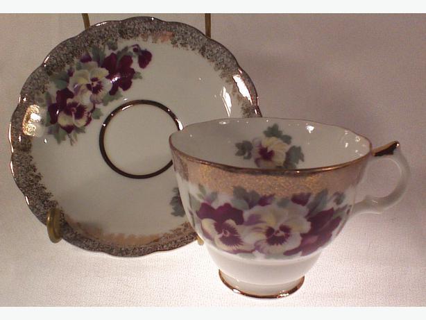 Castle teacup and saucer
