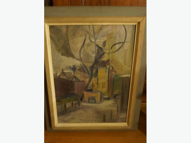 4U2C VINTAGE OIL ON CANVAS PAINTING SIGNED