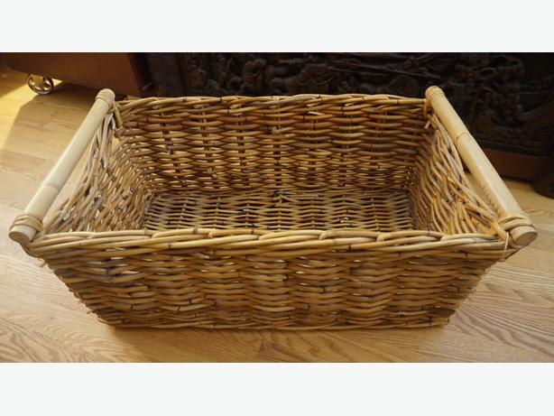 4U2C  HAND MADE BAMBOO WICKER CARRYING BASKET