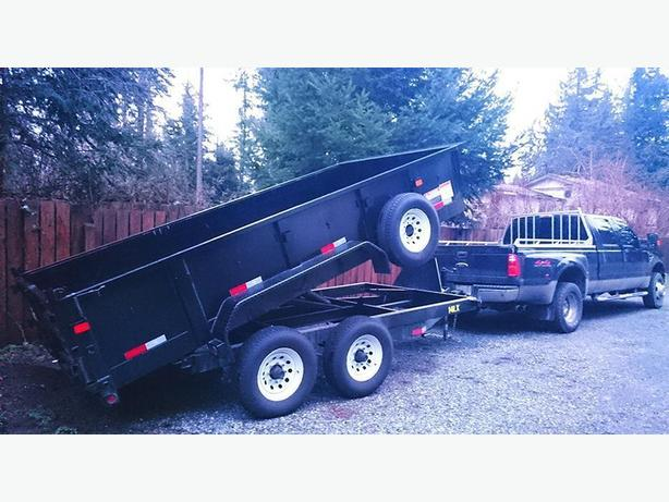 7 ton gravel dump trailer available for your hauling needs