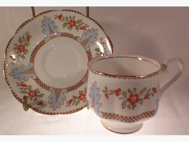 Royal Albert handpainted teacup & saucer