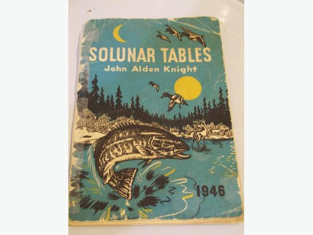 1946 SOLUNAR TABLES