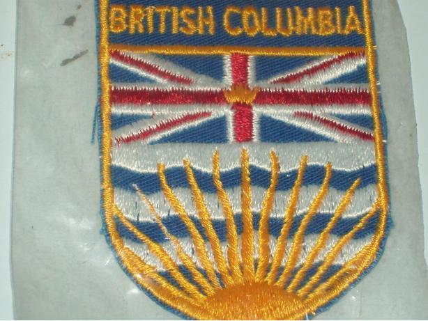 VINTAGE BRITISH COLUMBIA IRON ON PATCH