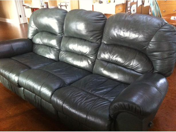 Genuine Leather Palliser Reclining Couch