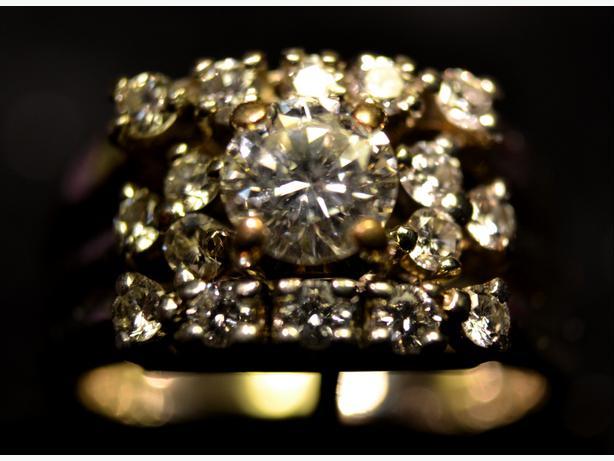 Diamond Engagement / Wedding Set 18 K