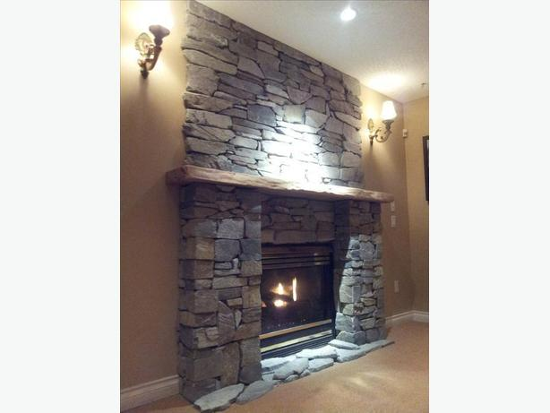 *CUSTOM STONE FIREPLACE & MANTLES
