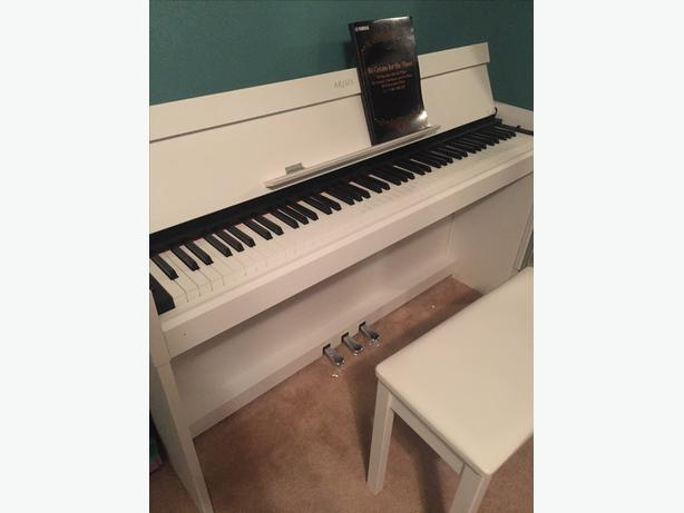 Yamaha arius ydp s52 white digital piano west shore for Yamaha ydp s52