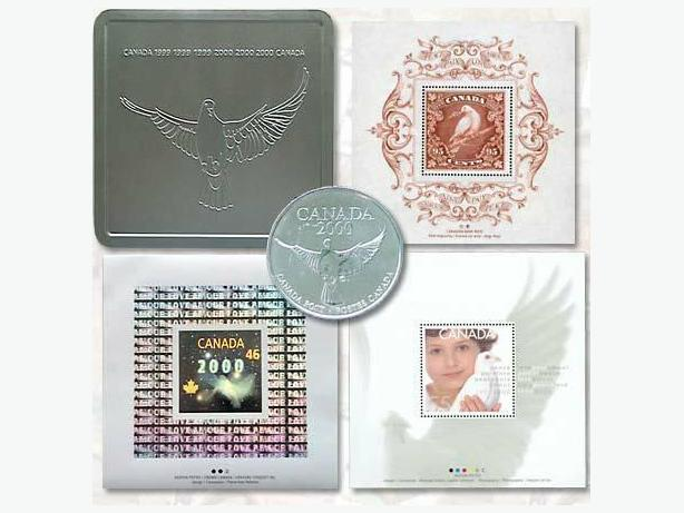 CANADIAN MILLENNIUM STAMP SET NEW C/W CASE + MORE