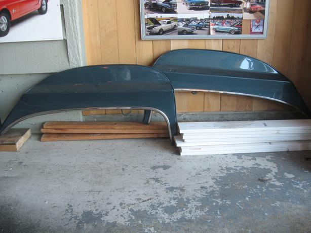 1966 TBird fender skirts pair