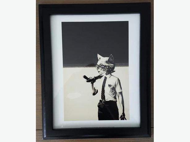Hidden Moves Falling Down Framed Print
