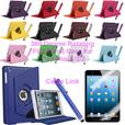 360° Degree Rotating Leather Flip Stand Case For IPad Mini 1/2/3