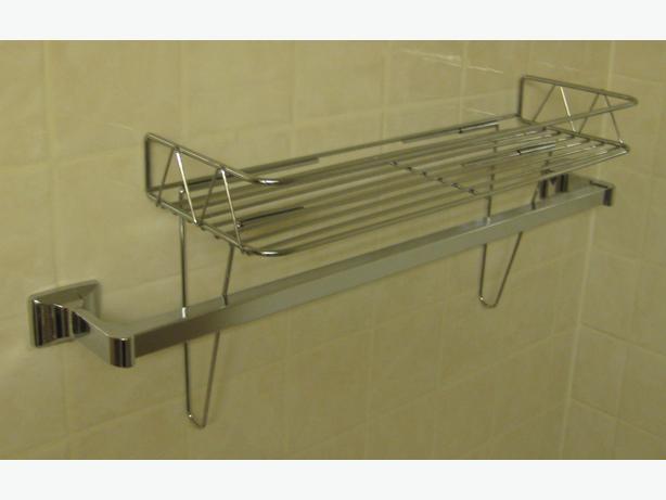 Like-New Chrome Towel Shelf