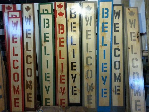 Welcome & Believe Signs