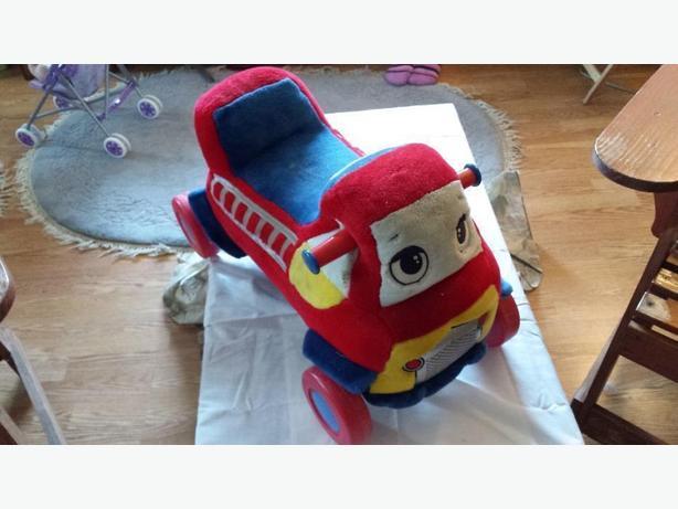 Fire truck soft ride on music maker