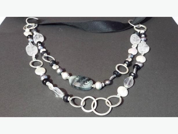 Necklace Rachel black and silver