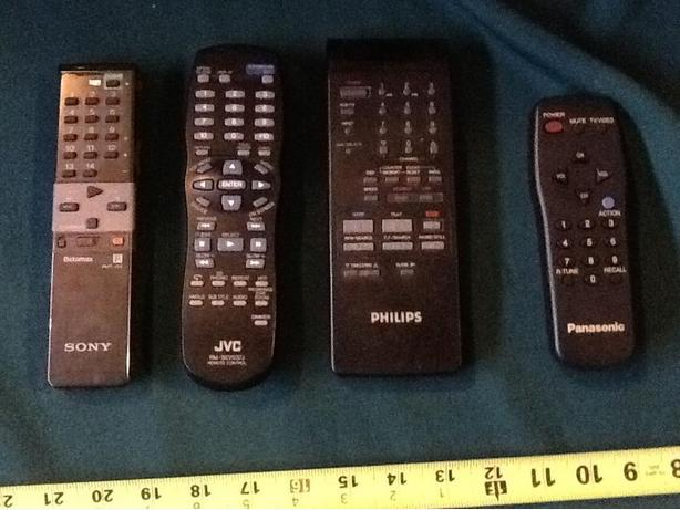 Sony Betamax, Philips, JVC and Panasonic Remotes $5 each
