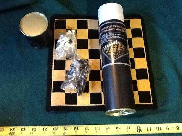 Brand New - magnetic rollout chess board and set