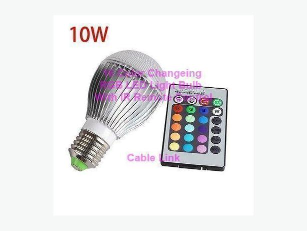 New 10W E27 16 Color RGB LED Spot Light Bulb IR Wireless Remote