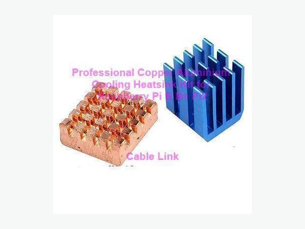 Professional Copper Aluminium Heatsink Kit 2pcs for Raspberry Pi
