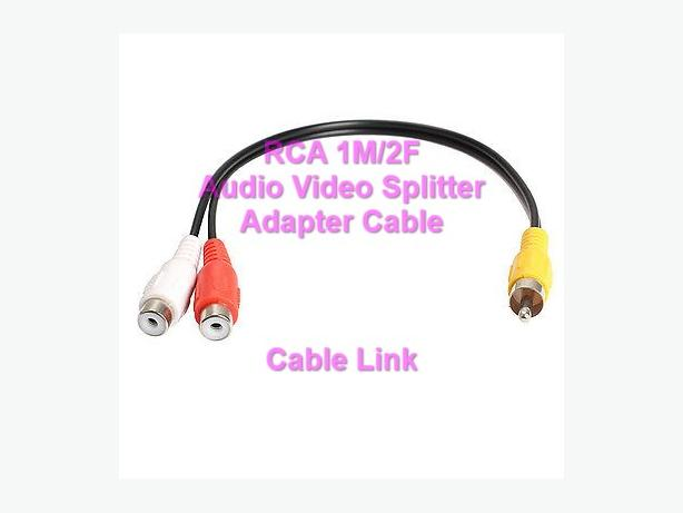 RCA (M) to 2 RCA (F) Audio Video Splitter Adapter Cable