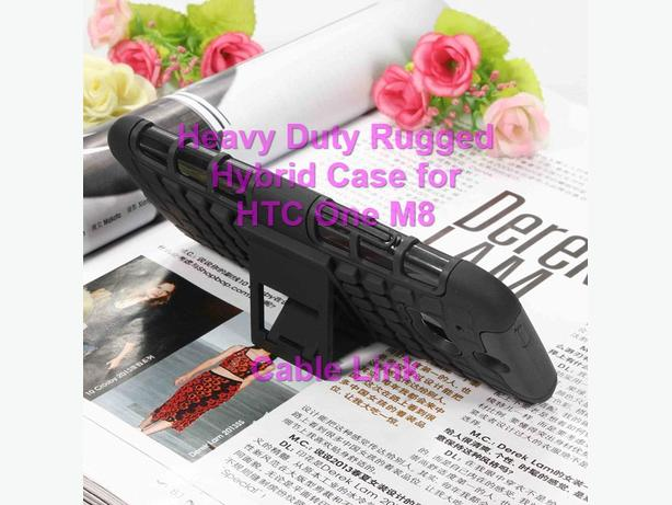 Armor Dual Layer Heavy Duty Hybrid Case for HTC One M8