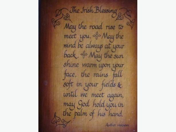 Vintage Irish Blessing Plaque