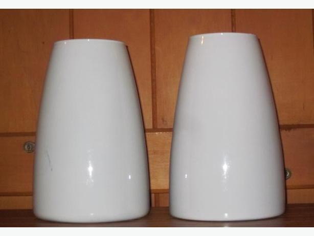 White Glass Vases $20 each