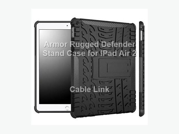New Armor Rugged Hybrid Stand Case for Apple IPad Air 2 IPad 6