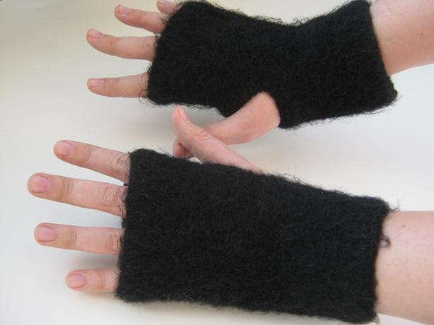 Knit Felted Mitts