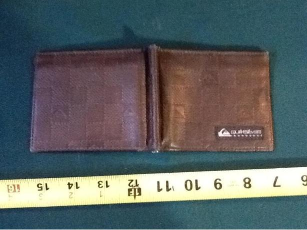 Quicksilver Brown Leather Men's Wallet or money clip