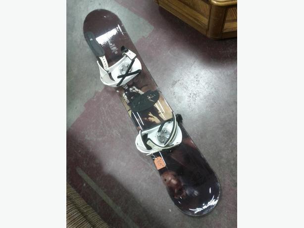 Snowboard and Bindings