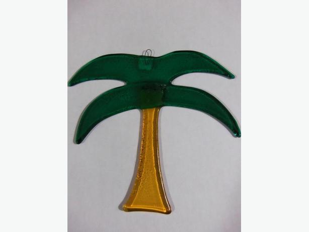 "6""  Glass Palm Tree"