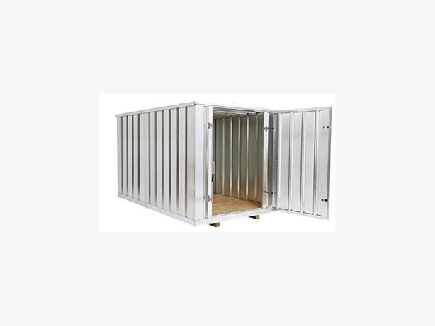Outdoor steel storage container