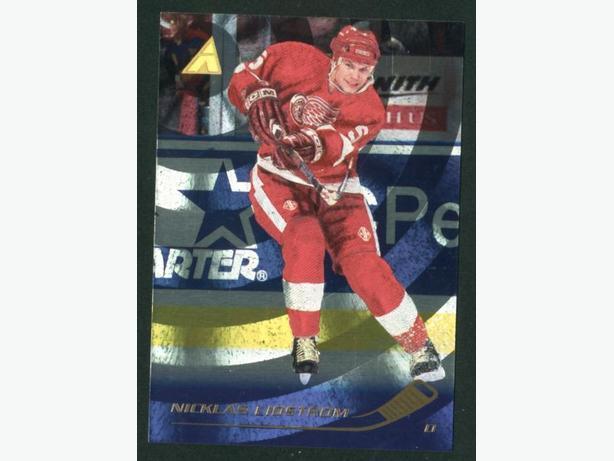 95/96 Pinnacle Rink Collection Nicklas Lidstrom Red Wings